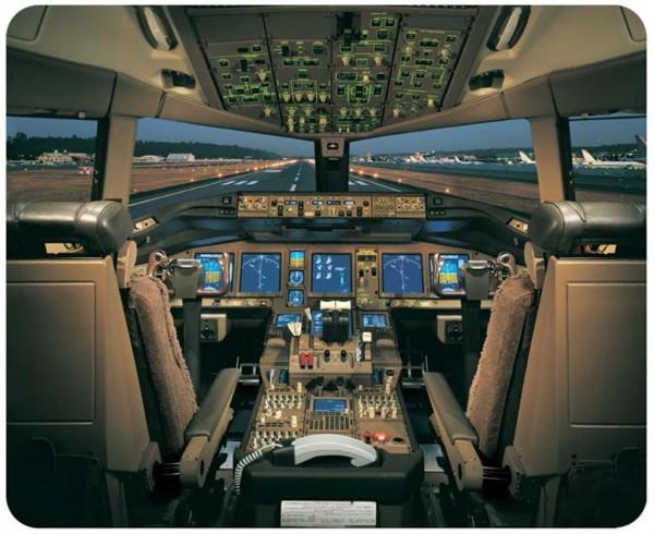 Boeing 777 Cockpit Mousepad