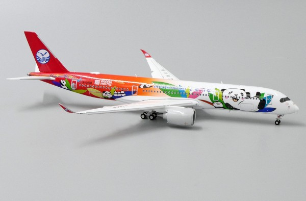 "Airbus A350-900XWB Sichuan Airlines ""Panda Route Livery"" Flaps Down Version B-306N Scale 1/400"