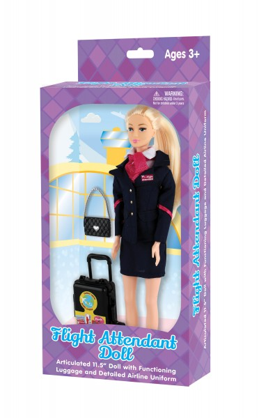 Flight Attendant Doll (Generic) in Box