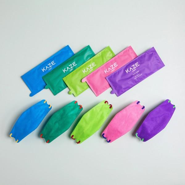 """10 Stück/5 Farben á 2 Stück Atemschutzmaske KAZE Light """"Light Eye Candy Series"""""""