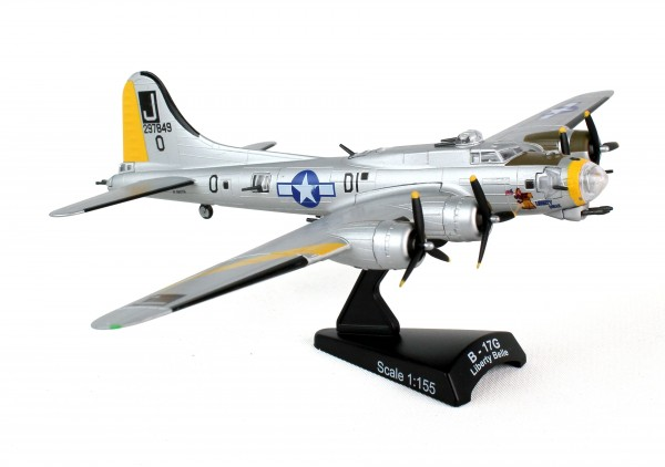 POSTAGE STAMP B-17 Flying Fortress USAAF Liberty Belle Scale 1/155