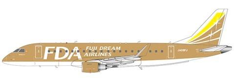 "Embraer 170-200STD Fuji Dream Airlines ""Gold Color"" Reg: JA09FJ Scale 1/200"