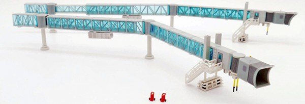 Air Passenger Bridge B737 (blue) Scale 1/200 #