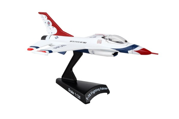 POSTAGE STAMP General Dynamics F-16 Fighting Falcon Thunderbirds Scale 1/126