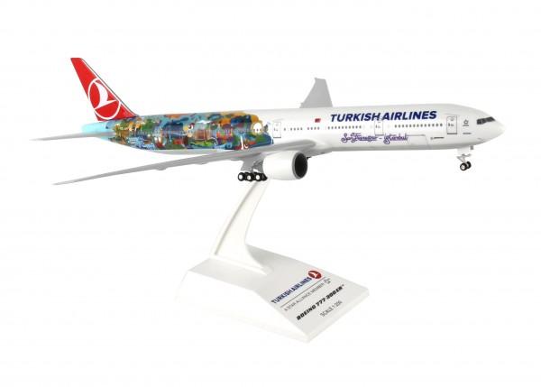 "Boeing 777-300ER Turkish Airlines ""SFO-IST"" Scale 1/200 w/Gear"