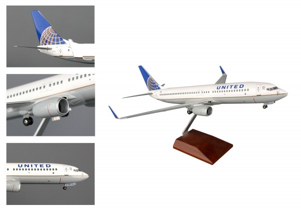 Boeing 737-800 United Airlines Scale 1/100 w/Gear