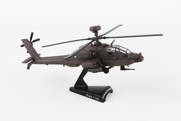 POSTAGE STAMP Boeing AH-64 Apache Longbow Scale 1/100