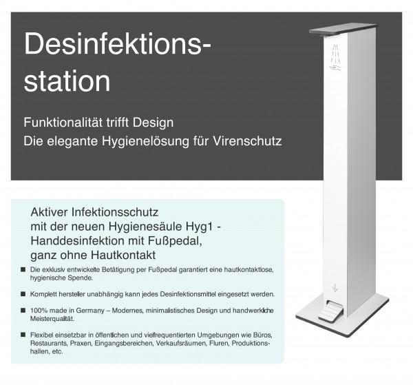 Hyg-1 Desinfektionsstation-Weiß
