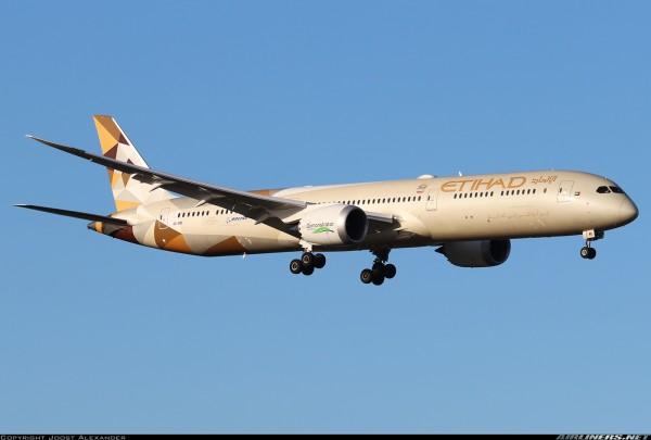 "Boeing 787-10 Etihad Airways ""Eco Demonstrator"" A6-BMI Scale 1/400"
