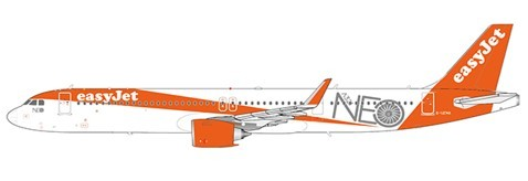 """Airbus A321neo EasyJet """"A321NEO Title"""" G-UZMA Scale 1/200"""