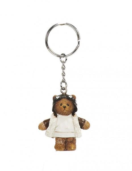 Schlüsselanhänger Poly Pilotbär 4cm / key ring Poly Pilot Bear 4cm +++
