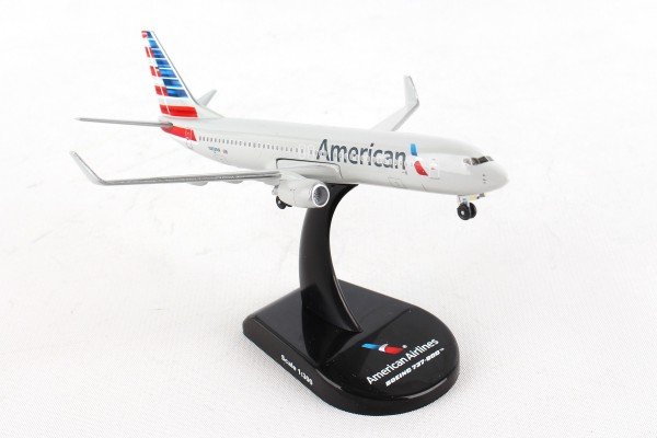 POSTAGE STAMP Boeing 737-800 American Airlines Scale 1/300