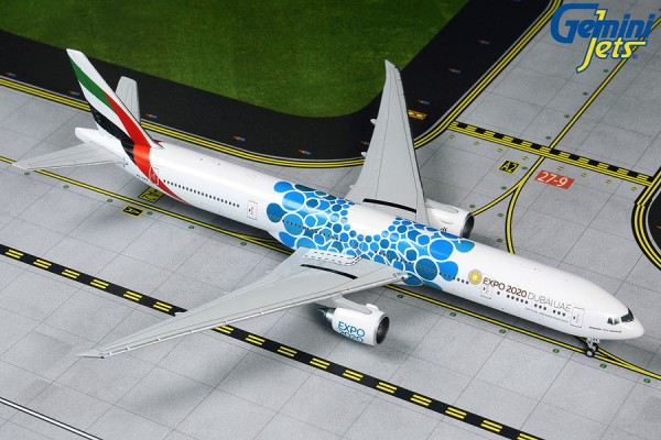 "Boeing 777-300ER Emirates ""Blue Expo 2020"" Scale 1/400"