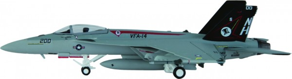 """McDonnell Douglas F/A-18E Hornet US Navy VFA-14 """"Tophatters"""", CVW 11, NAS Lemoore,NH 200 Scale 1/200"""