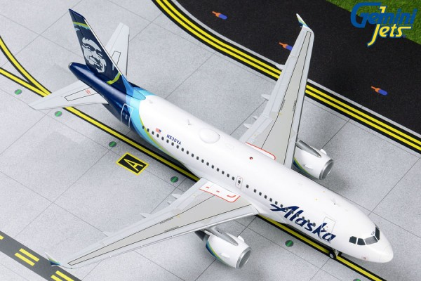 Airbus A319 Alaska Airlines Scale 1/200