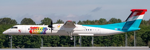 """Bombardier Dash8-Q400 Luxair """"be Pride, be Luxembourg Livery"""" LX-LQC Scale 1/200"""