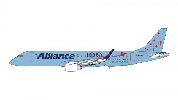 """Embraer E-190 Alliance Airlines """"Air Force Centenary 2021"""" VH-UYB Scale 1/400"""