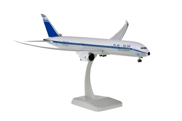"Boeing 787-9 EL AL Israel Airlines ""Retro Livery"" with WiFi Radome 4X-EDF Scale 1:200"