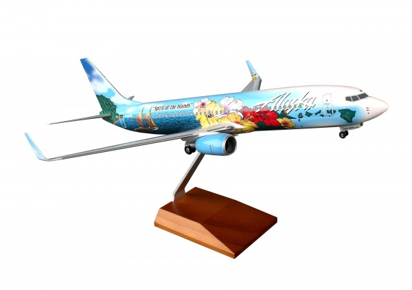 "Boeing 737-800 Alaska Airlines ""Spirit of the Islands"" Scale 1/100 w/Gear"