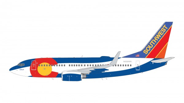 """Boeing 737-700 Southwest Airlines """"Colorado One"""" N230WN Scale 1/200"""